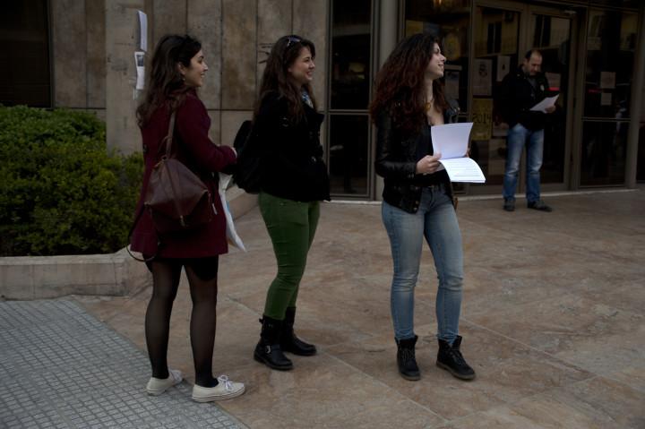 «Μένουμε Θεσσαλονίκη»: Συμβολική παράσταση διαμαρτυρίας για την Πρωτοβουλία Pro Work
